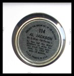1964 Topps Coins #114  Alvin Jackson   Back Thumbnail