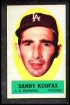 1963 Topps Peel-Offs #23  Sandy Koufax  Front Thumbnail