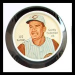 1962 Salada Coins #110  Gordy Coleman  Front Thumbnail