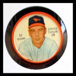 1962 Salada Coins #52 BAL Johnny Temple    Front Thumbnail