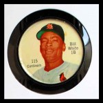 1962 Salada Coins #115  Bill White  Front Thumbnail