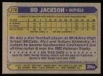 1987 Topps #170  Bo Jackson  Back Thumbnail
