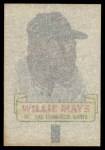 1966 Topps Rub Off #60   Willie Mays   Back Thumbnail