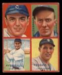 1935 Goudey  Earl Averill / Oral Hildebrand / Willie Kamm / Hal Trosky  Front Thumbnail