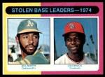 1975 Topps #309   -  Lou Brock / Bill North SB Leaders   Front Thumbnail