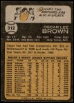 1973 Topps #312  Oscar Brown  Back Thumbnail