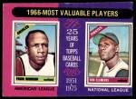 1975 Topps #204   -  Frank Robinson / Roberto Clemente 1966 MVPs Front Thumbnail