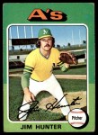 1975 Topps #230  Catfish Hunter  Front Thumbnail