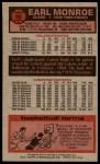 1976 Topps #98  Earl Monroe  Back Thumbnail