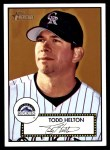 2001 Topps Heritage #7 BLK Todd Helton   Front Thumbnail