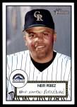 2001 Topps Heritage #155  Neifi Perez  Front Thumbnail