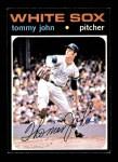 1971 Topps #520  Tommy John  Front Thumbnail