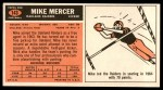 1965 Topps #143  Mike Mercer  Back Thumbnail