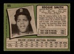 1971 Topps #305  Reggie Smith  Back Thumbnail