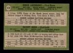 1971 Topps #439   -  Greg Luzinksi / Scott Reid Phillies Rookies Back Thumbnail
