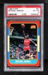 1986 Fleer #57  Michael Jordan  Front Thumbnail