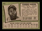 1971 Topps #717  Tommie Aaron  Back Thumbnail