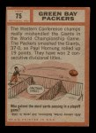1962 Topps #75   Packers Team Back Thumbnail