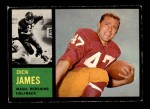 1962 Topps #165  Dick James  Front Thumbnail