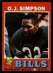 1971 Topps #260  O.J. Simpson  Front Thumbnail