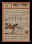 1962 Topps #23  Richie Petitbon  Back Thumbnail