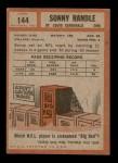 1962 Topps #144  Sonny Randle  Back Thumbnail