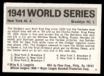 #  39  1941 Yankees/Dodgers - 1971 Fleer World Series Back Thumbnail