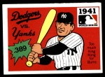 #  39  1941 Yankees/Dodgers - 1971 Fleer World Series Front Thumbnail