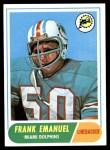 1968 Topps #170  Frank Emanuel  Front Thumbnail