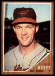 1962 Topps #134 BLU Billy Hoeft   Front Thumbnail