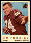 1959 Topps #165  Jim Podoley  Front Thumbnail