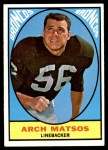 1967 Topps #37  Archie Matsos  Front Thumbnail
