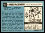 1964 Topps #103  Curtis McClinton  Back Thumbnail