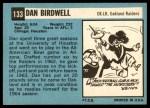 1964 Topps #133  Dan Birdwell  Back Thumbnail