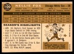 1960 Topps #100  Nellie Fox  Back Thumbnail