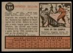 1962 Topps #184 NRM Haywood Sullivan  Back Thumbnail