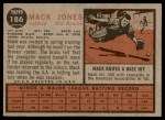 1962 Topps #186 GRN Mack Jones  Back Thumbnail