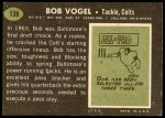 1969 Topps #138  Bob Vogel  Back Thumbnail