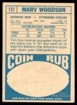 1968 Topps #137  Marv Woodson  Back Thumbnail