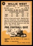 1967 Topps #80  Willie West  Back Thumbnail