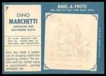 1961 Topps #7  Gino Marchetti  Back Thumbnail
