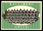 1961 Topps #9   Colts Team Front Thumbnail