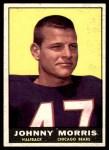 1961 Topps #11  Johnny Morris  Front Thumbnail