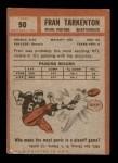 1962 Topps #90  Fran Tarkenton  Back Thumbnail