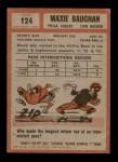 1962 Topps #124  Maxie Baughan  Back Thumbnail