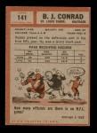 1962 Topps #141  Bobby Joe Conrad  Back Thumbnail