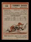 1962 Topps #158  Tommy Davis  Back Thumbnail