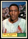 1961 Topps #232  Bill White  Front Thumbnail