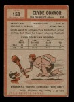 1962 Topps #156  Clyde Connor  Back Thumbnail