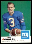 1969 Topps #62  Pete Gogolak  Front Thumbnail